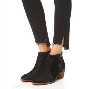 Madewell Janice black suede booties sz 8